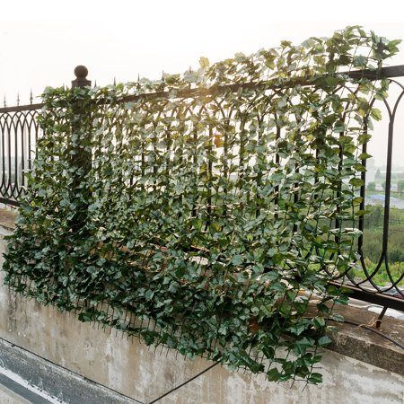 Goplus 40''x95'' Faux Ivy Leaf Decorative Privacy Fence Screen Artificial Hedge Fencing