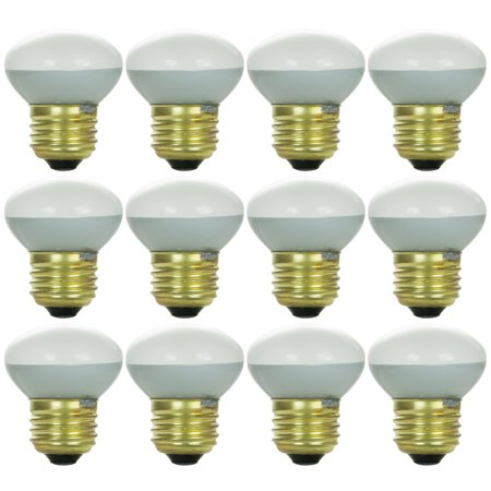 12 Pack Sunlite 40 Watt R14 Reflector, Medium Base, - Incandescent R14 Mini Reflector