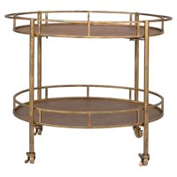 3R Studios Two Tier Bar Cart