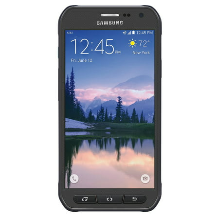 Samsung Galaxy S6 Active G890A AT&T 4G LTE Octa-Core Phone w/ 16MP Camera - Gray (Samsung Mega 2 At&t Phone)