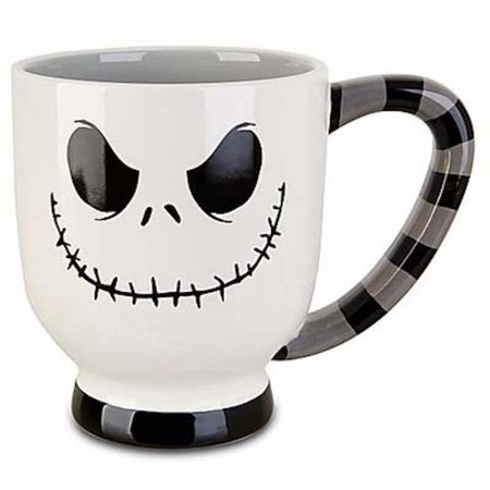 Disney Glass Cups (disney parks jack skellington white stripes coffee cup mug)
