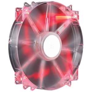 Cooler Master MegaFlow 200 - Sleeve Bearing 200mm Red LED Silent Fan for Computer Cases - Red LED, 200x200x30 mm, 700 RP