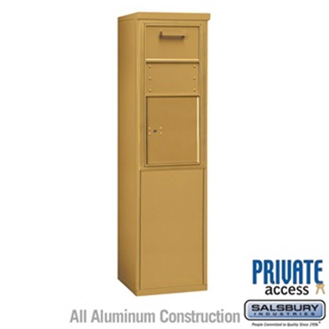 Salsbury 3909S-1CGF 61 - 0.25 in. 9 Door High Unit Single Column Free Standing 4C Horizontal Collection Box, Gold - Front Access