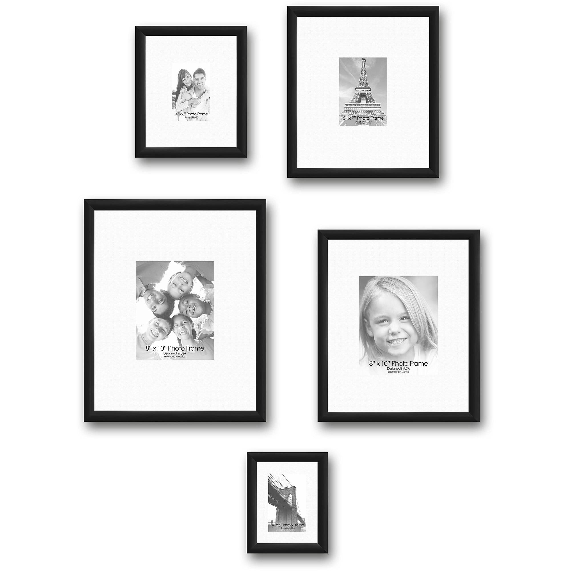 Gallery Frames, Set of 5, Black