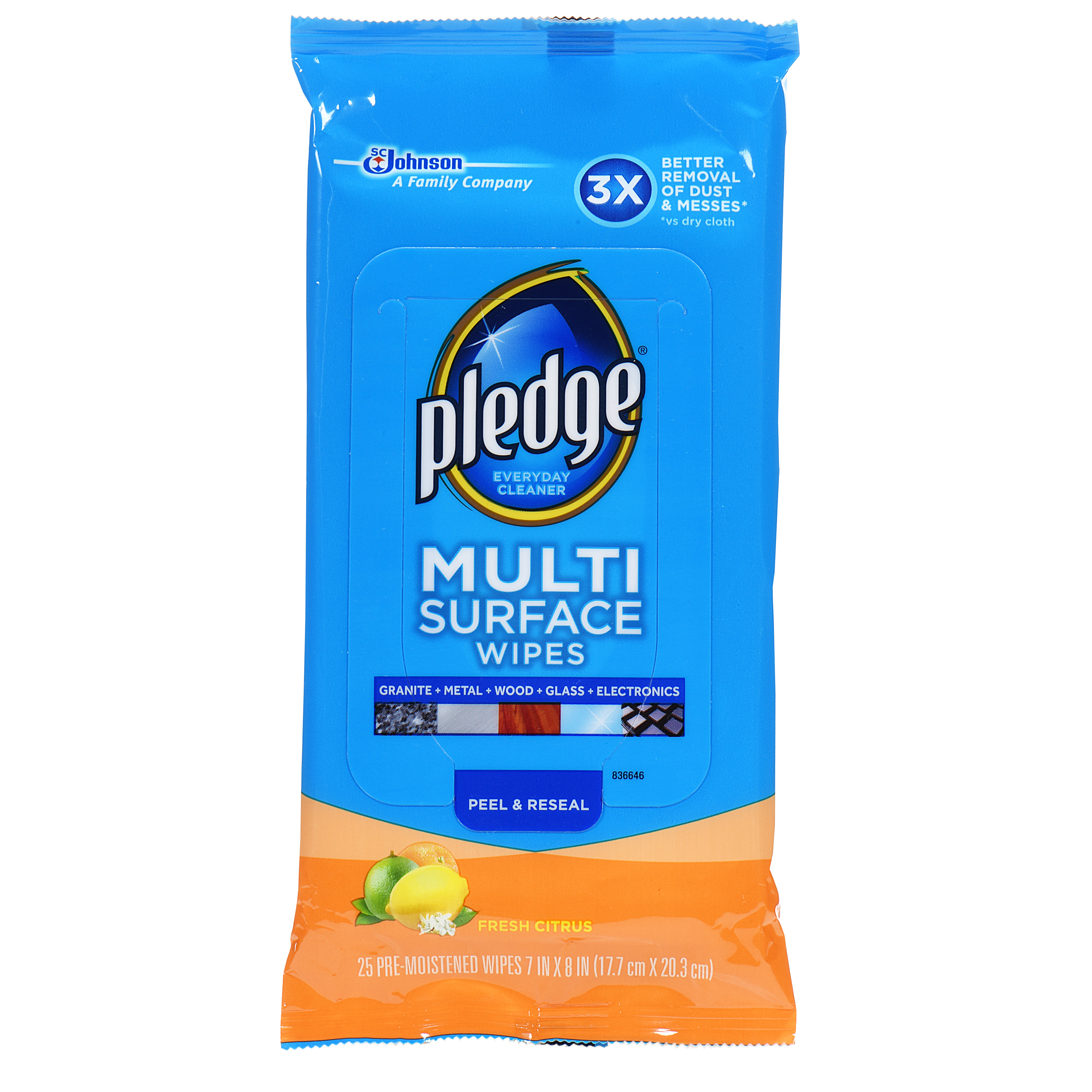 Pledge Multi Surface Everyday Wipes 25 count