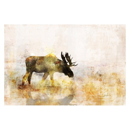 ArtMaison Canada Moose Gel Brush Canvas Wall -