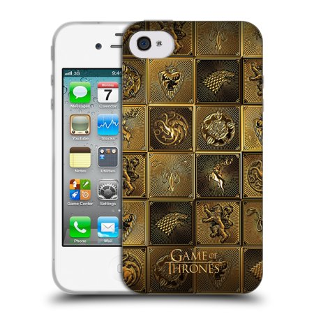 Official Hbo Game Of Thrones Golden Sigils Soft Gel Case For Apple Iphone Phones