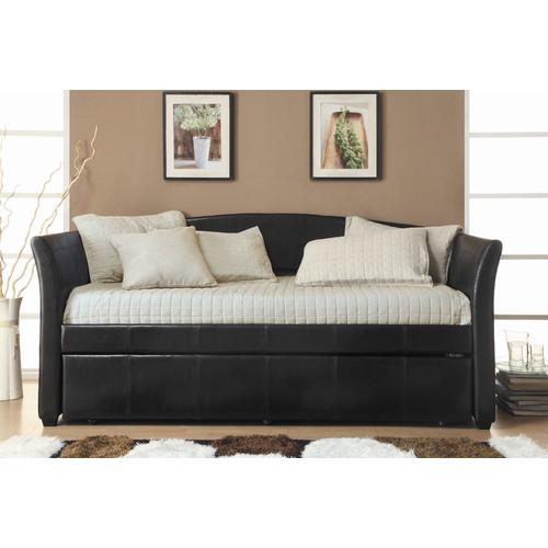 Emily Vinyl Daybed, Dark Brown (Box 1 of 3)