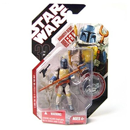 Star Wars 30th Anniversary Animated Boba Fett Figure, NM - Boba Fett Jetpack Backpack