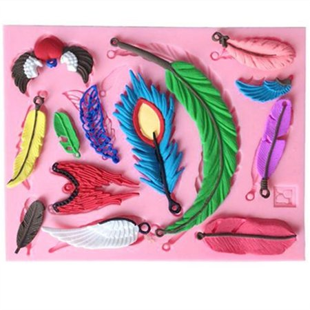 Vintage Feather Collections Fondant Silicone Cake Mould Cupcake Mold, Clay Rubber candy making decorating tools Today's Special - Halloween Cupcake Ideas With Fondant