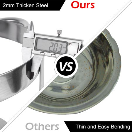 Zimtown Round Chafing Dish 5 Quart Stainless Steel Tray Buffet Catering, Dinner Serving Buffer Warmer Set, Pack of 1/2/4 - image 3 de 6