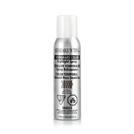 Streaks N Tips Temporary Color Highlight Spray Icy White (Highlight Spray)