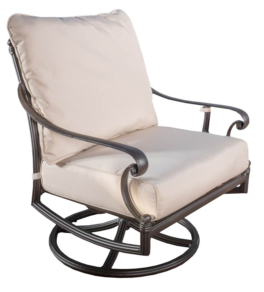Outdoor Swivel Chair in Brown Sand