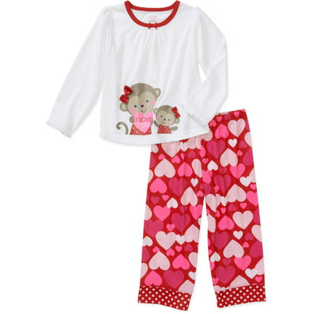 c2d7a0cb3 Child of Mine by Carter s - Baby Girls  Valentine 2-Piece Pajama Set ...