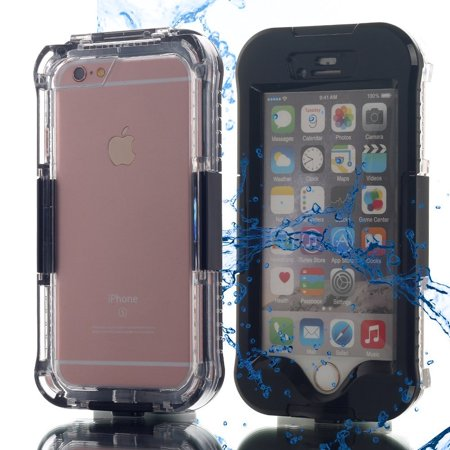 Black Waterproof Shockproof Dirt Proof Life Cover Case For Apple Iphone 6 6s