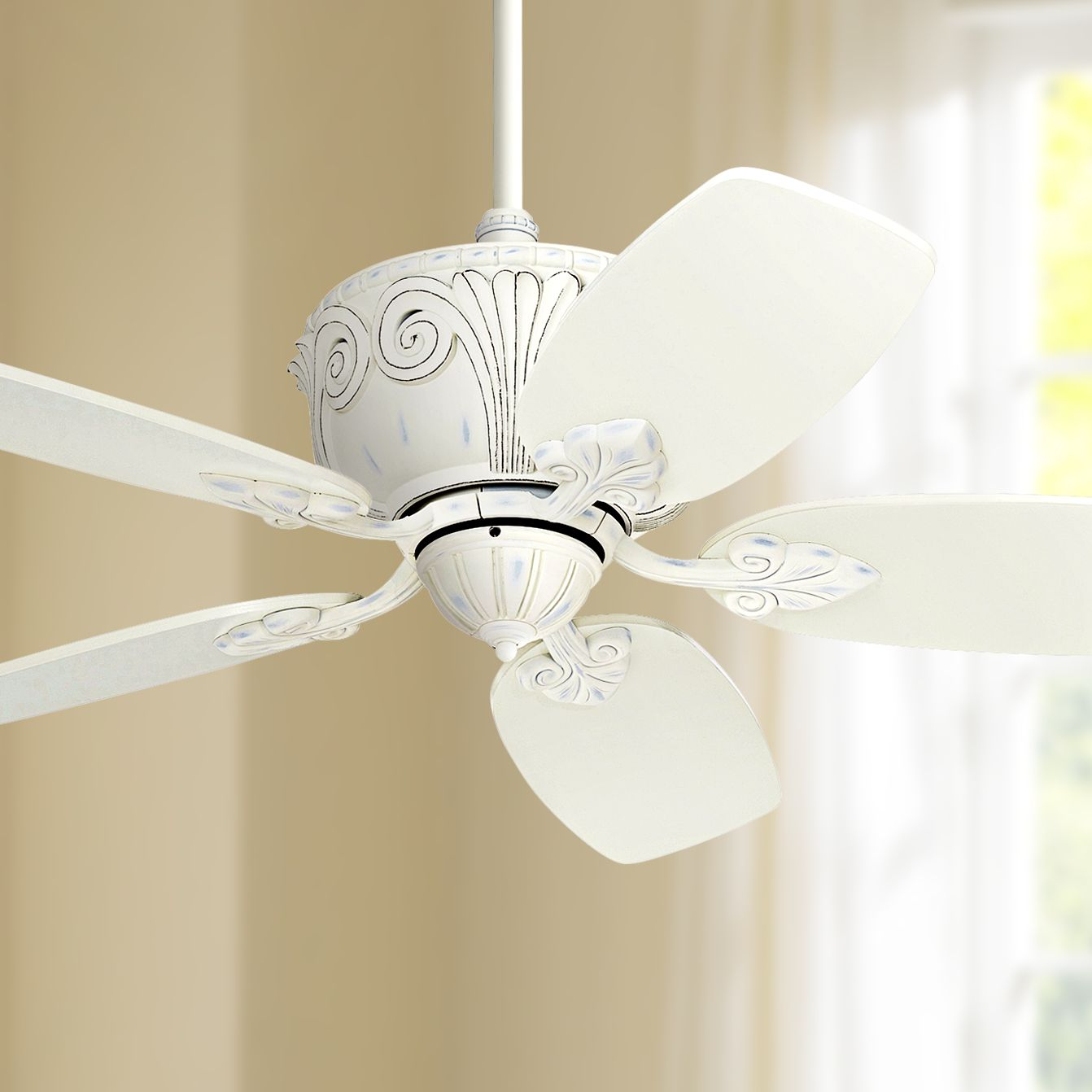 44 Casa Vieja Shabby Chic Ceiling Fan Antique Rubbed White For Living Room Kitchen Bedroom Family Dining Walmart Com Walmart Com