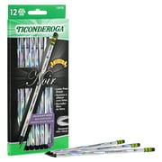 Ticonderoga Noir Pencil, Wood-Cased Black Wood Pencils, 12 ct