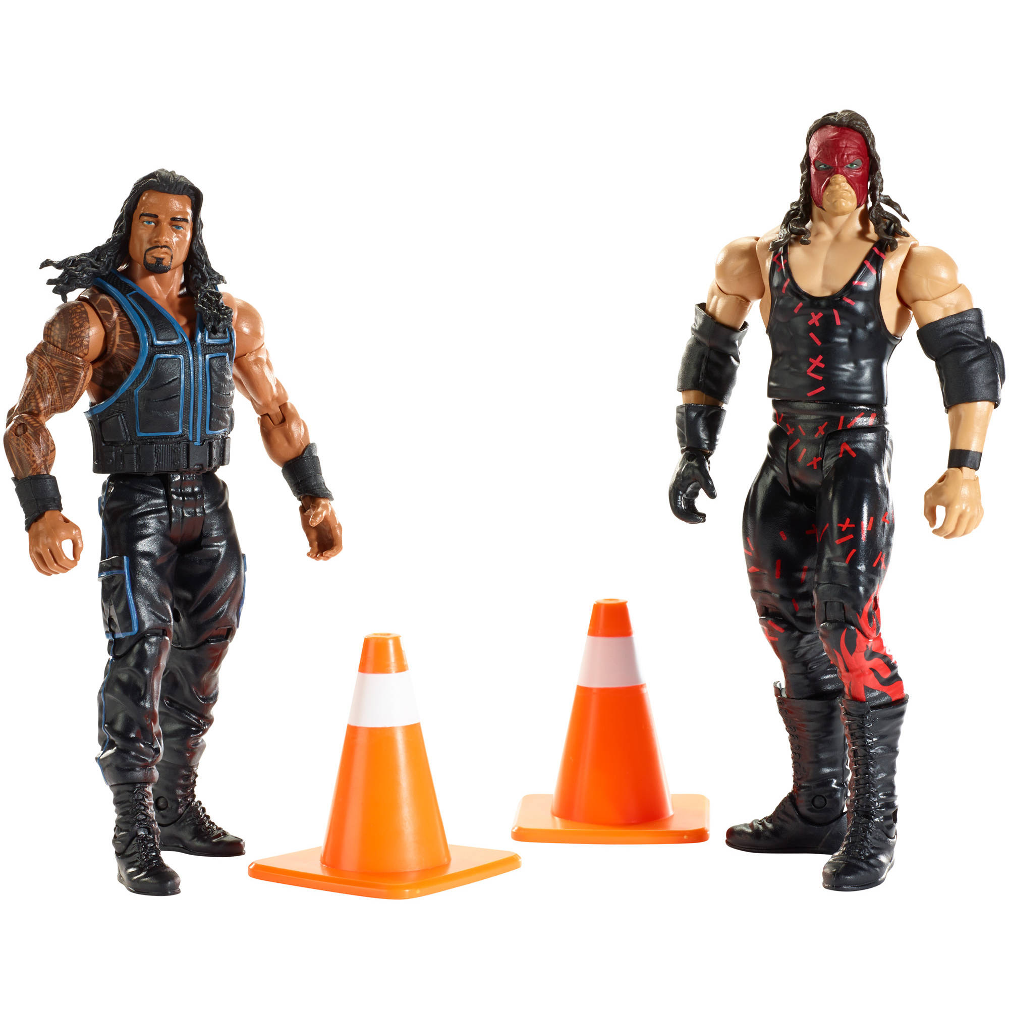 WWE Roman Reigns and Kane Action Figures, 2 Pack