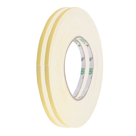 - 2 Pcs 5mm Width 1mm Thickness EVA Single Side Sponge Foam Tape 10 Meter Length