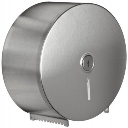 Bobrick 2890 Jumbo Toilet Tissue Dispenser, Stainless Steel, 10.625W x 10.625H x 4.5D