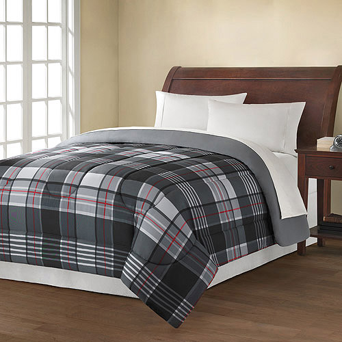 Mainstays Reversible Comforter Collection, Plaid