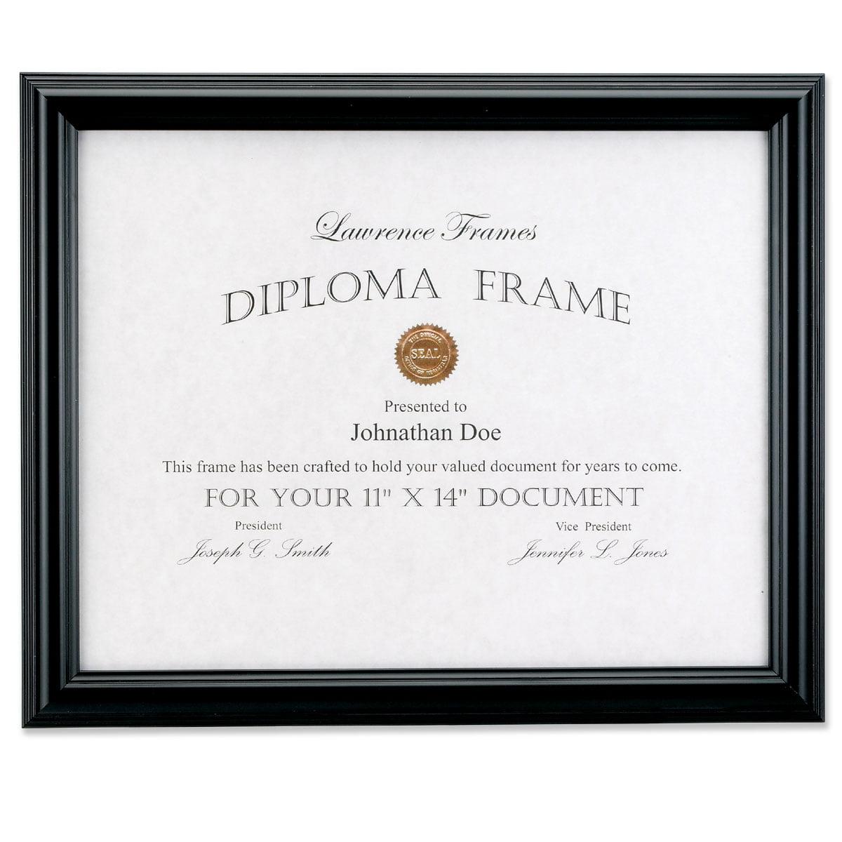 11x14 Black Diploma Frame - Domed Top - Walmart.com