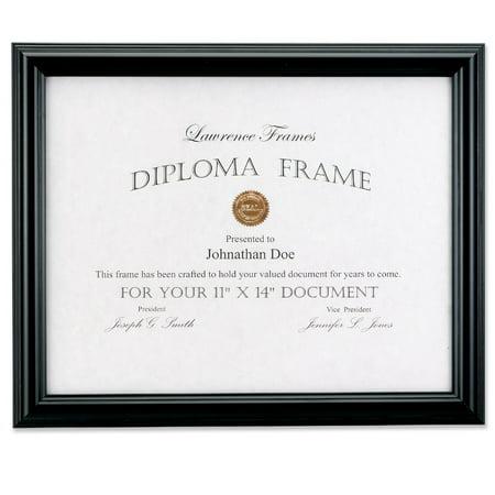 11x14 Black Diploma Frame - Domed Top
