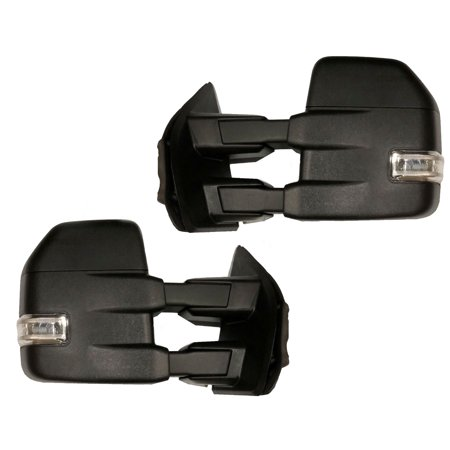 2015 2016 15 16 Ford F150 Pickup 8 PIN Black Power Heated Towing Mirror Set LED 2000 Ford F150 Mirror