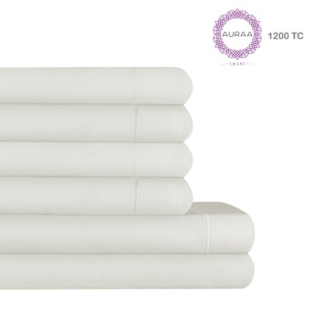 Envious 1200 TC Cotton Rich 6 PC Queen Sheet Set (Evy Queen)