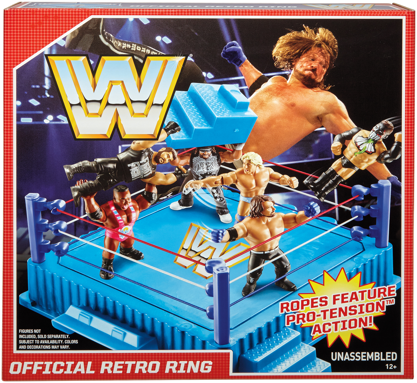 WWE Retro Ring Playset for Mattel Toy Wrestlnig Action Figures