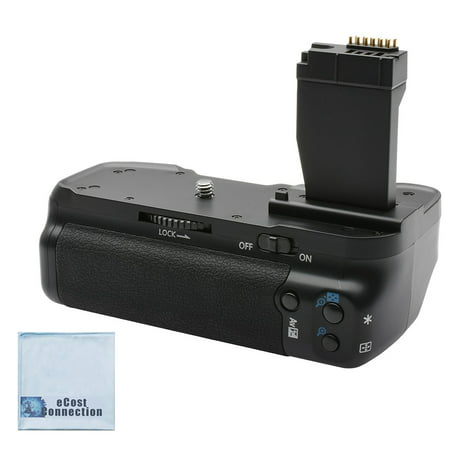 Battery Grip for Canon T6i/T6S DSLR Cameras + eCostConnection Microfiber Cloth (New Battery Grip)