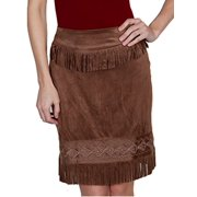Scully Western Skirt Womens Honey Creek Knee-Length M Chocolate HC252