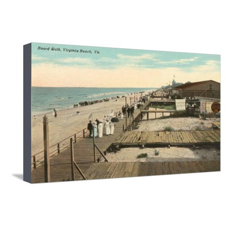 Boardwalk, Virginia Beach, Virginia Stretched Canvas Print Wall (Ar 15 For Sale In Virginia Beach)