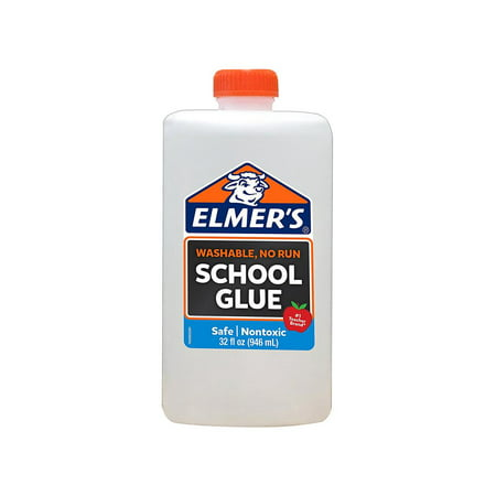 Elmer's Liquid School Glue, White, Washable, 32 Ounces