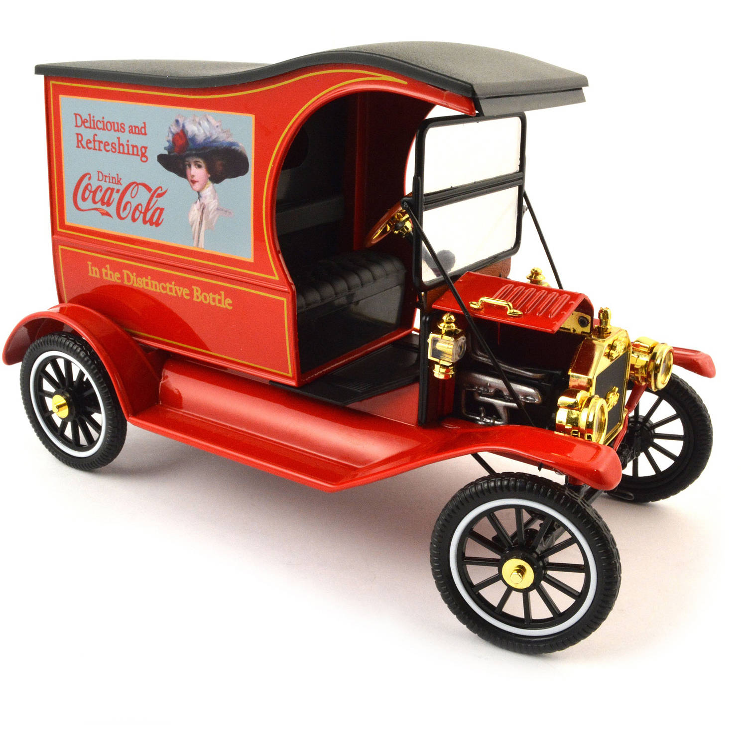 """1:18 Scale 1917 Ford Model T with """"Drink Delicious Coca-Cola"""" Message by Motor City Classic Inc."""