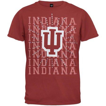 Indiana Hoosiers - Rhinestone Ray Girls Juvy T-Shirt