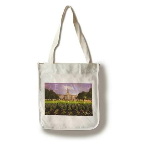 City Hall Denver Halloween (Denver, Colorado - City Hall - Lantern Press Photography (100% Cotton Tote Bag -)