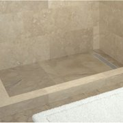 Tile Redi Plank Pitch Double Threshold Shower Base with Drain Grate