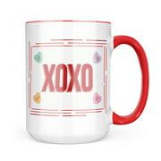 Christmas Cookie Tin XOXO Valentine's Day Love Candy Hearts Mug gift for Coffee Tea lovers