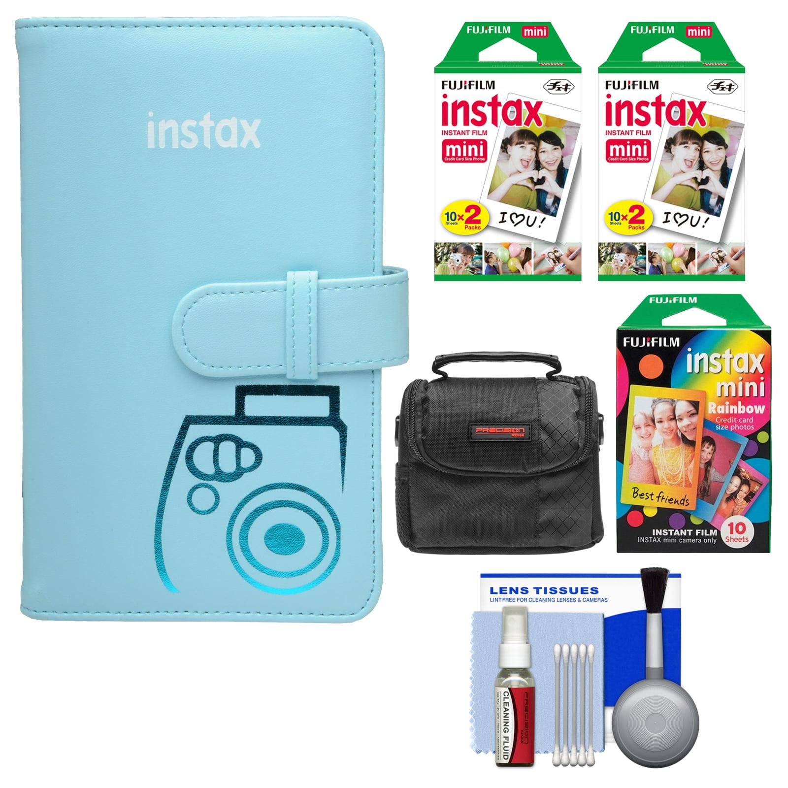 FujiFilm Instax Mini Wallet 108 Photo Album (Blue) with 40 Color Prints & 10 Rainbow Prints + Case + Kit for... by Fujifilm