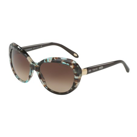 Tiffany 0TF4122 Full Rim Irregular Womens Sunglasses - Size 56 (Brown Gradient)