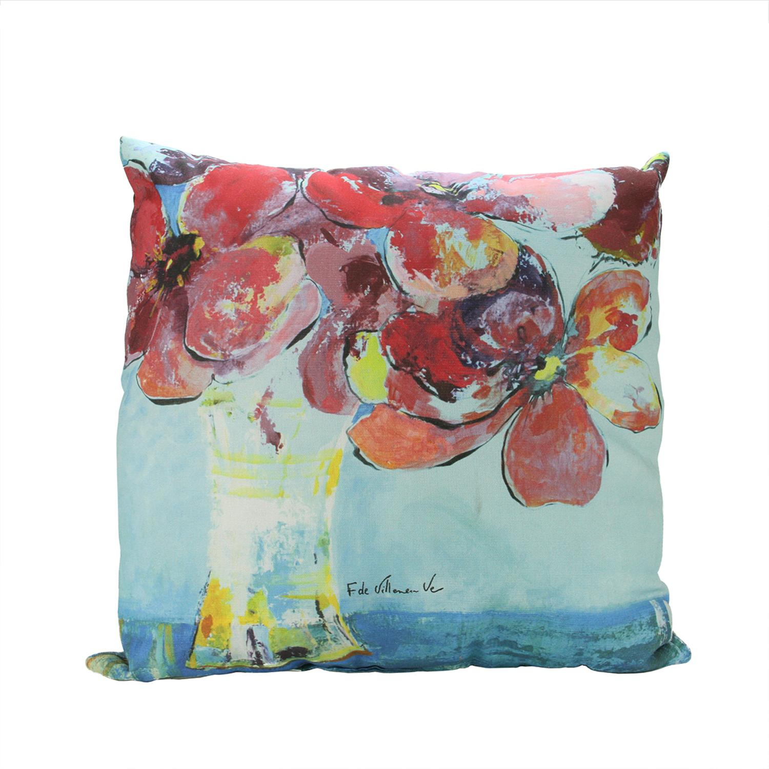 "20"" Rich Bouquet Decorative Floral Print Square Throw Pillow"