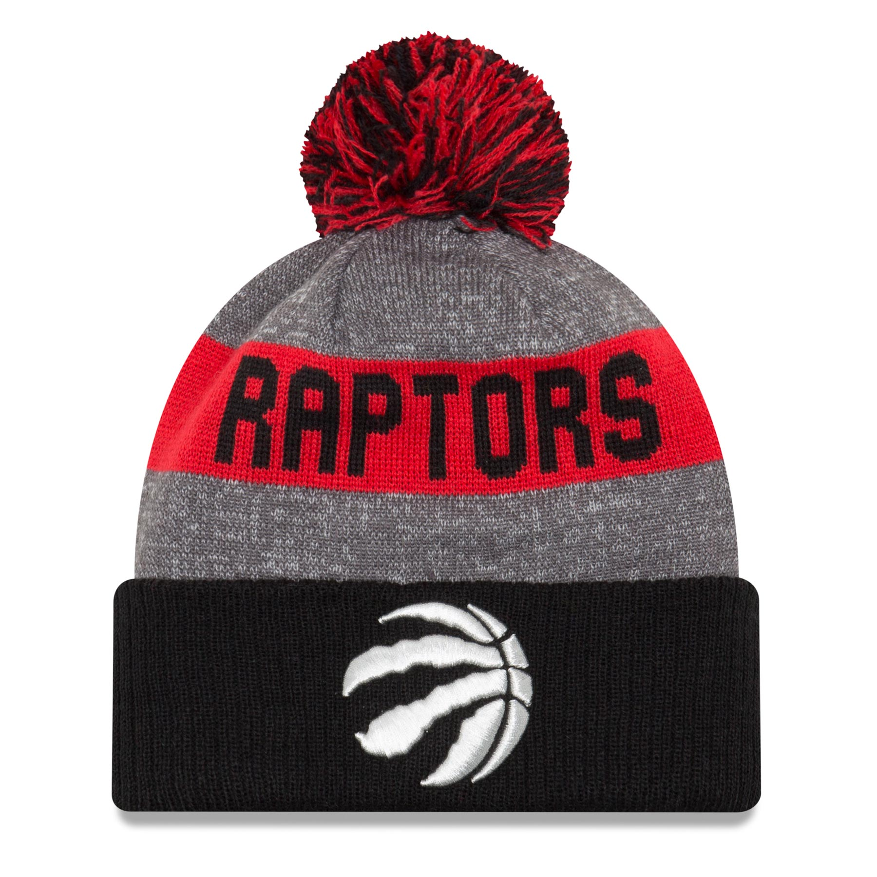 Toronto Raptors New Era NBA Sport Knit Pom Hat