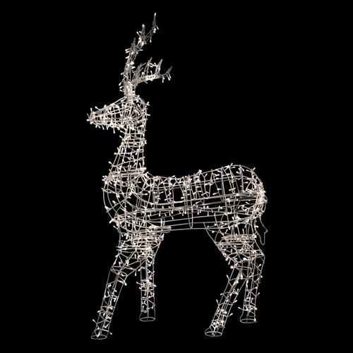 Northlight Seasonal LED Lighted Standing Reindeer Outdoor Christmas Decoration