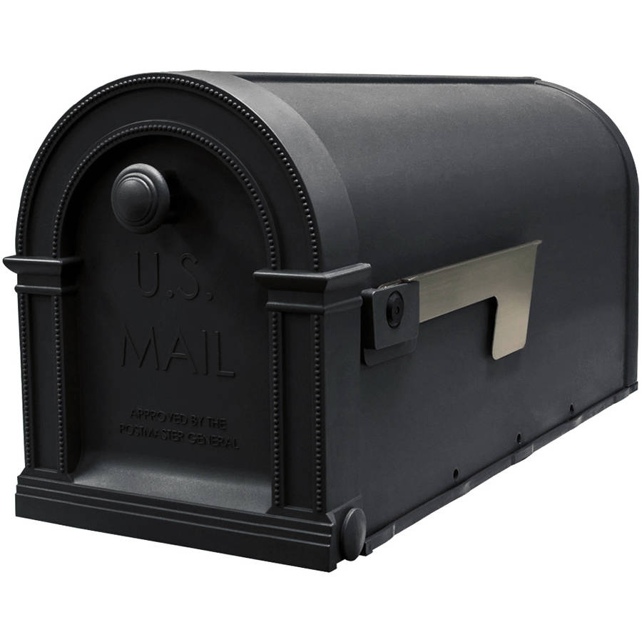"Solar Group PM000B01 20"" Black Lincoln Decorative Post-Mount Mailbox by Solar Group"