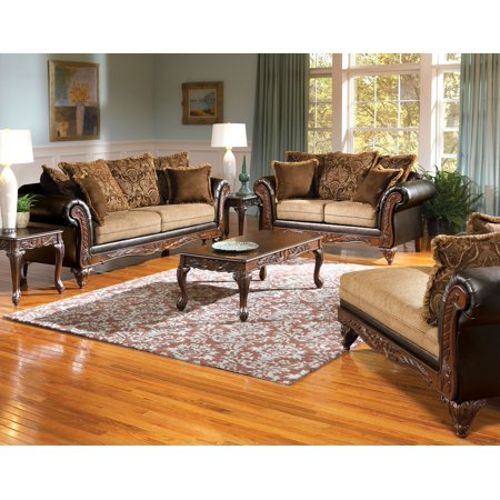 Serta Collection 3pc Sofa Set Traditional Formal Sofa Loveseat Chaise  Chocolate Color Living Room Furniture USA