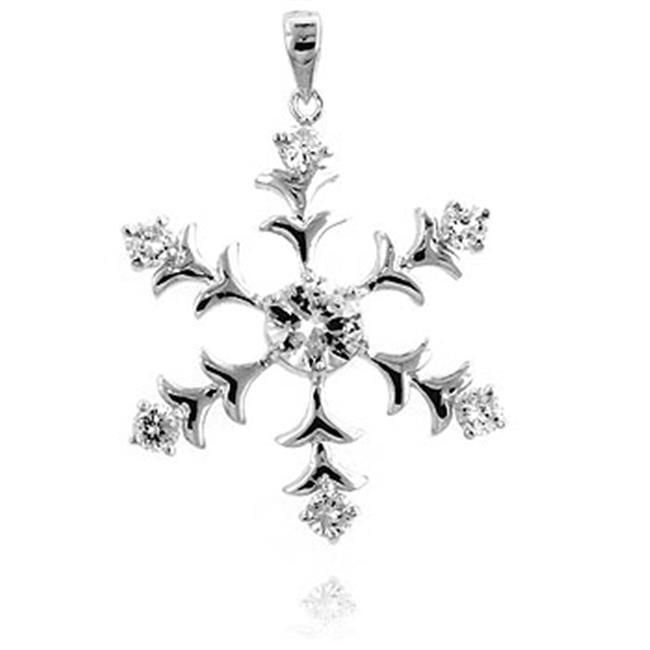 Kate Bissett P50059R-C01 Silver Tone Snowflake Pendant