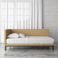 DHP Mid Century Upholstered Modern Daybed, Multiple Colors and Sizes