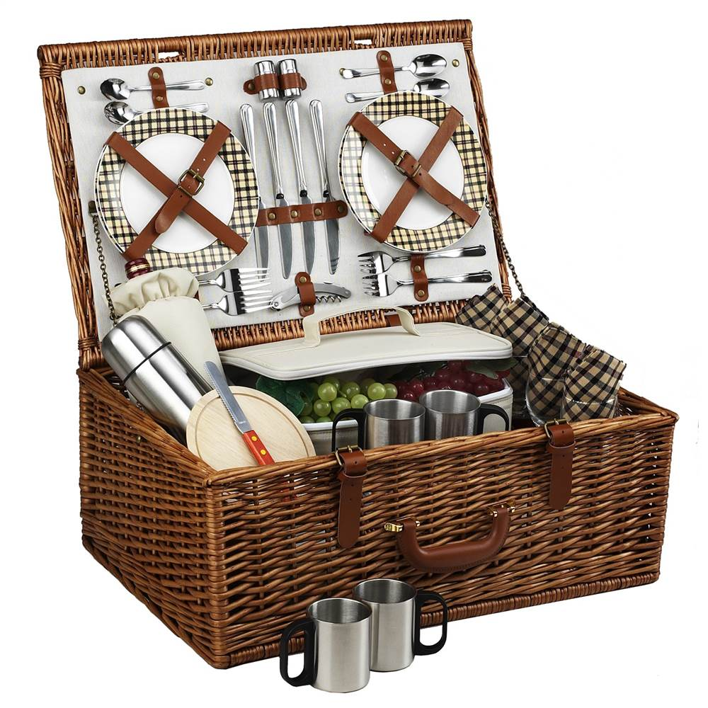 Dorset London Picnic Basket for Four with Coffee Set