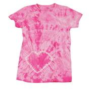 Wear Your Heart On Your Tee Lower Heart Juniors Tie Dye T-Shirt Tee